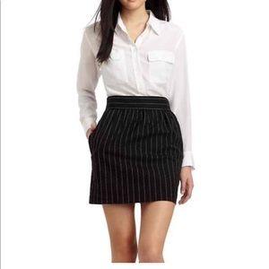 Alice + Olivia Employed mini pinstripes skirt